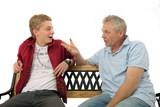 Gespräch zwischen Vater und Sohn - Fine Art prints