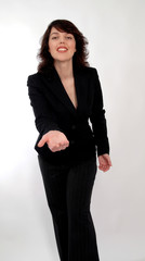businesswoman with hand gesture