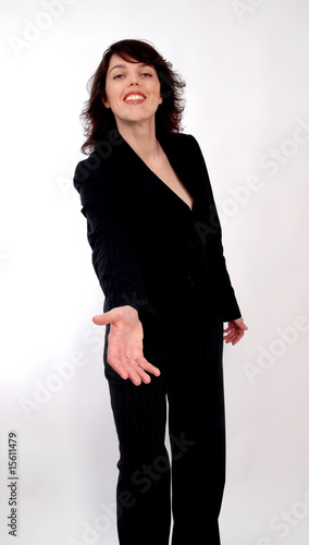 businesswoman with gesture
