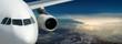 Fototapete Airline - Flugzeug - Sonnenauf- / untergang