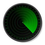 Radar. Vector. Insert your map. poster