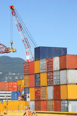 containers in Laspezia (Italy) harbor