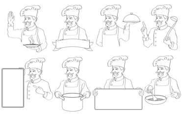 Eight logos chefs