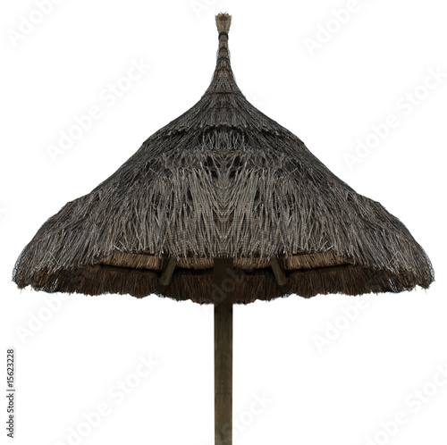 parasol de plage en paille de unclesam photo libre de droits 15623228 sur. Black Bedroom Furniture Sets. Home Design Ideas