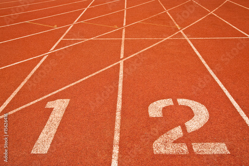 Racing lanes and numbers