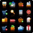 Shopping_black background