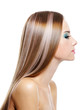 Female with long health beautiful hair