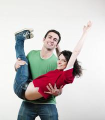 jeune couple et vitalité