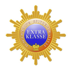 button logo siegel extra klasse