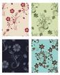 floral seamless patterns set
