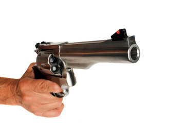 44 Magnum Handgun Revolver isolated