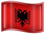 Albania Flag Icon poster