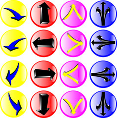 signs in circle illustration
