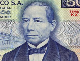 Benito Juarez on 50 Pesos 1981 Banknote from Mexico