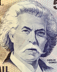 Carlos Gomes on 5000 Cruzerios 1993 Banknote from Brazil