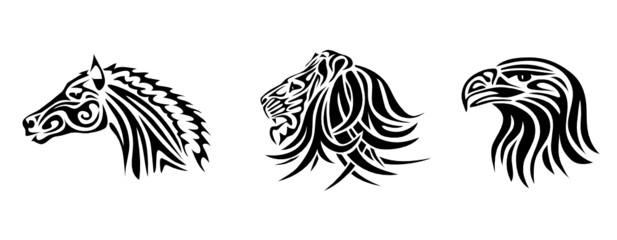 Pferd, Löwe, Adler