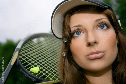 Pretty tennis player