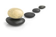 Zen stones isolated. spa background