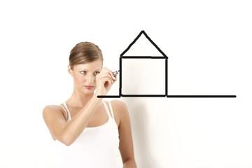 Haus zeichnen