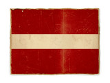 grunge flag of Latvia poster