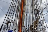 Sail ship mast poster