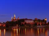 Wawel Castle by night poster