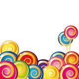 Fototapety Border of lollipop.