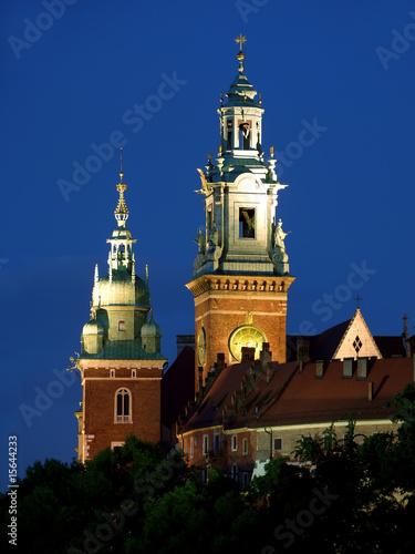 poster of Wawel Castle by night
