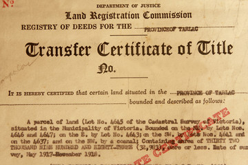 Transfer Certificate of Title
