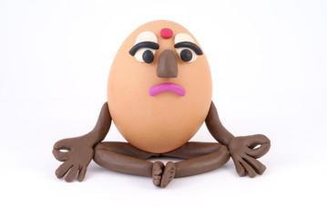 An egg is yogi.