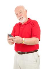 Senior Man - Texting Frustration