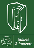 Recycling Sign Fridges and Freezers