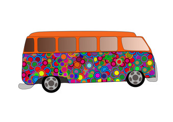 Flower power bus