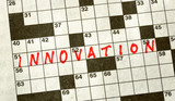 The Word INNOVATION on Crossword Puzzle poster