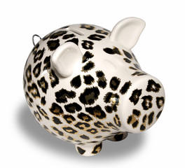 Leopard Skin Piggy Bank