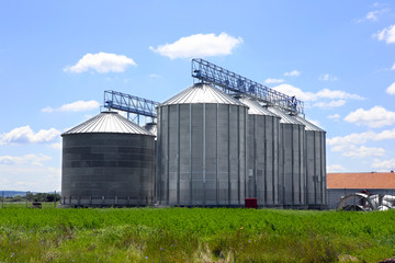 silos in the field