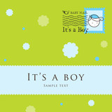 Baby arrival announcement card poster