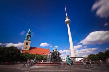 Berlin Alexanderplatz Neptunbrunnen