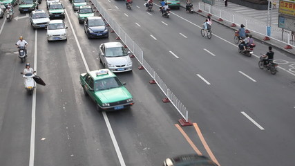 Time Lapse of traffic on city boulevard