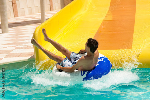 summer fun in aquapark