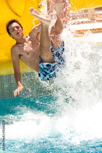 summer fun in waterpark
