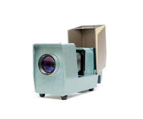 Vintage side projector shallow DOF isolated