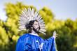 Jesus Christus in einer Prozession in den Strassen von L.A.
