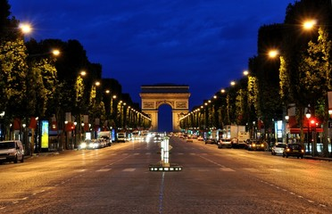 The Champs-Elysées by night
