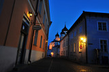 Houses in Tallinn in evening
