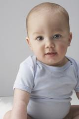 A portrait of a baby boy