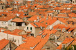 Red tiled roofs of old city Dubrovnik, Croatia