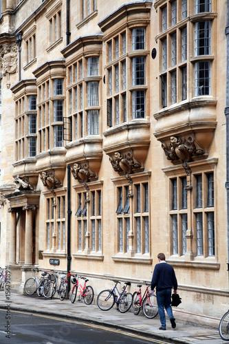 Oxford University student walking