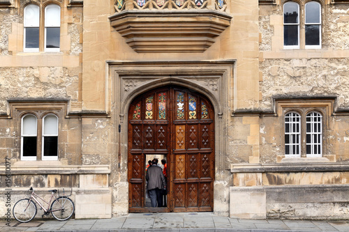 Oxford University Oriel College Gate