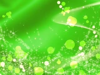 グリーンのイルミネーション